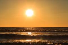 Por do sol em Waikato Imagens de Stock