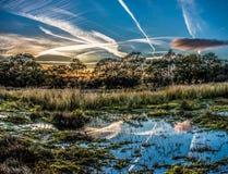 Por do sol em Waun Goch Fotografia de Stock
