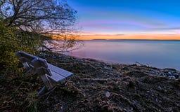 Por do sol em Wisconsin imagens de stock