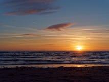 Por do sol em Ynyslas 1 Fotografia de Stock Royalty Free
