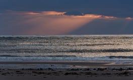 Por do sol em Ynyslas 2 Foto de Stock Royalty Free