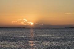 Por do sol em Zanzibar imagem de stock