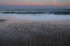 Por do sol, Emerald Isle, North Carolina fotografia de stock