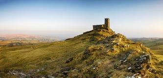 Igreja de Brentor em Dartmoor em Devon Fotografia de Stock