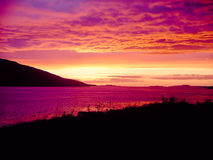 Por do sol escocês Imagem de Stock Royalty Free