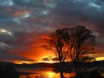 Por do sol escocês vívido Foto de Stock