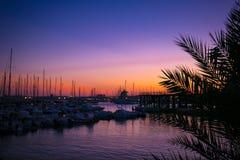 Por do sol espanhol Fotos de Stock Royalty Free