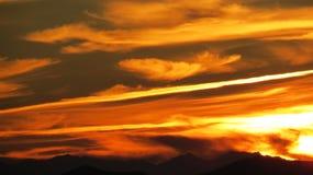 Por do sol espanhol espetacular Fotos de Stock