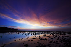 Por do sol espectacular foto de stock