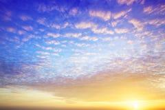 Por do sol espectacular fotos de stock