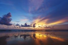 Por do sol espectacular Fotos de Stock Royalty Free