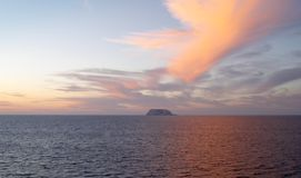 Por do sol espectacular em março de Cortes fotografia de stock royalty free