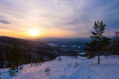 Por do sol frio bonito Imagem de Stock Royalty Free