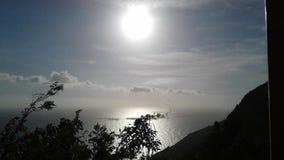Por do sol do fulgor de noite Imagens de Stock Royalty Free