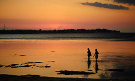 Por do sol Gili Imagem de Stock Royalty Free