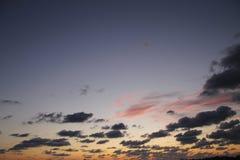 Por do sol glorioso foto de stock