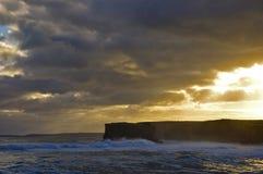 Por do sol, grande estrada do oceano, Victoria, Austrália Imagem de Stock