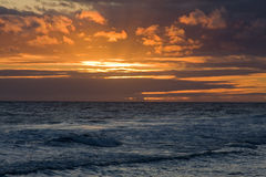 Por do sol havaiano 4 imagens de stock royalty free