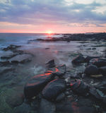Por do sol havaiano Imagens de Stock