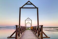 Por do sol idílico Imagem de Stock