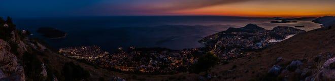 Por do sol III de Dubrovnik imagem de stock