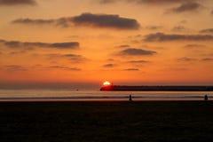 Por do sol III de Essaouira fotografia de stock