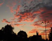 Por do sol impetuoso Fotos de Stock Royalty Free