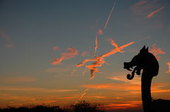 Por do sol impetuoso Foto de Stock Royalty Free