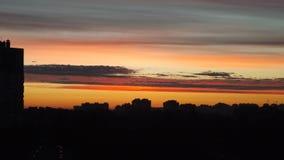 Por do sol impetuoso de Petersburgo Imagens de Stock