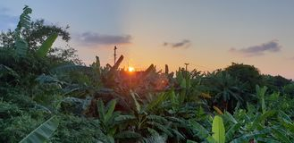 Por do sol impressionante imagens de stock