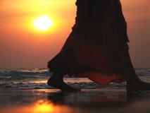 Por do sol indiano Fotografia de Stock