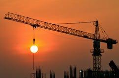 Por do sol industrial Fotografia de Stock