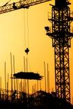 Por do sol industrial Fotos de Stock