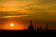 Por do sol industrial com espaço da cópia Fotografia de Stock Royalty Free