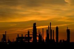Por do sol industrial com espaço da cópia Imagem de Stock