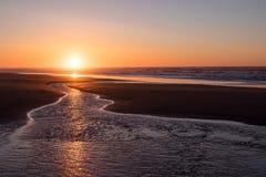 Por do sol inspirado Fotografia de Stock