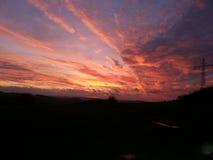 Por do sol intenso Imagem de Stock Royalty Free