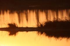 Por do sol invertido do imag Foto de Stock
