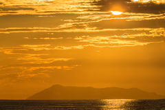 Por do sol Ionian Foto de Stock Royalty Free