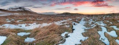 Por do sol islandês Foto de Stock Royalty Free