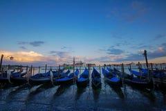 Por do sol Itália de Veneza Fotografia de Stock Royalty Free