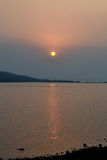 Por do sol, Karjat Foto de Stock