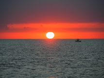 Por do sol Key West Florida Foto de Stock