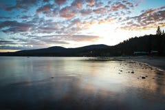 Por do sol Lake Tahoe Imagem de Stock