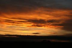 Por do sol Lincolnshire Fotos de Stock