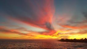 Por do sol lindo Imagens de Stock