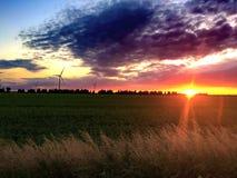 Por do sol lindo Fotos de Stock Royalty Free