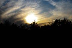 Por do sol lindo Imagem de Stock