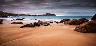 Por do sol litoral Imagens de Stock