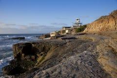 Por do sol litoral de Califórnia Fotos de Stock
